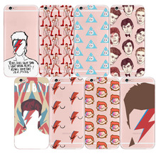 David Bowie Case Blackstar Starman Cool Painting Soft Silicone Transparent TPU for Apple iphone 5s SE 6s 7 8  6plus 7plus X XS david bowie blackstar cd