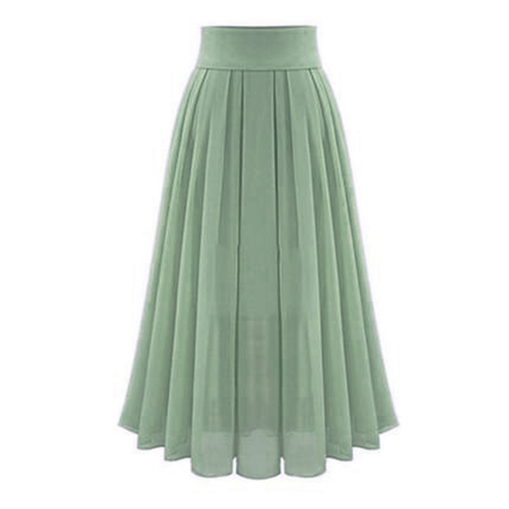 Womail Skirt  Skirts Summer Ladies Women's Sexy Party Chiffion Skirts High Waist Lace-up Hip Long A-Line Skirt 2019 May29 10