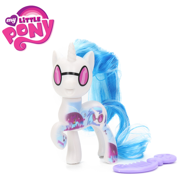 2018 My Little Pony Toys the Movie DJ Pon-3 Big Mcintosh Rainbow Dash Pinkie Pie Rarity PVC Action Figure Collectible Model Doll цена
