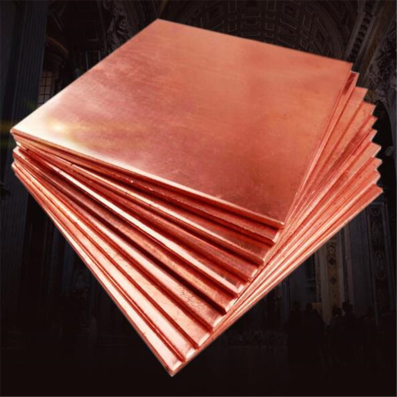 1PC 0.8mm x 100mm x 100mm 99.9% Copper Cu Metal Sheet Plate Nice Mechanical Behavior and Thermal Stability