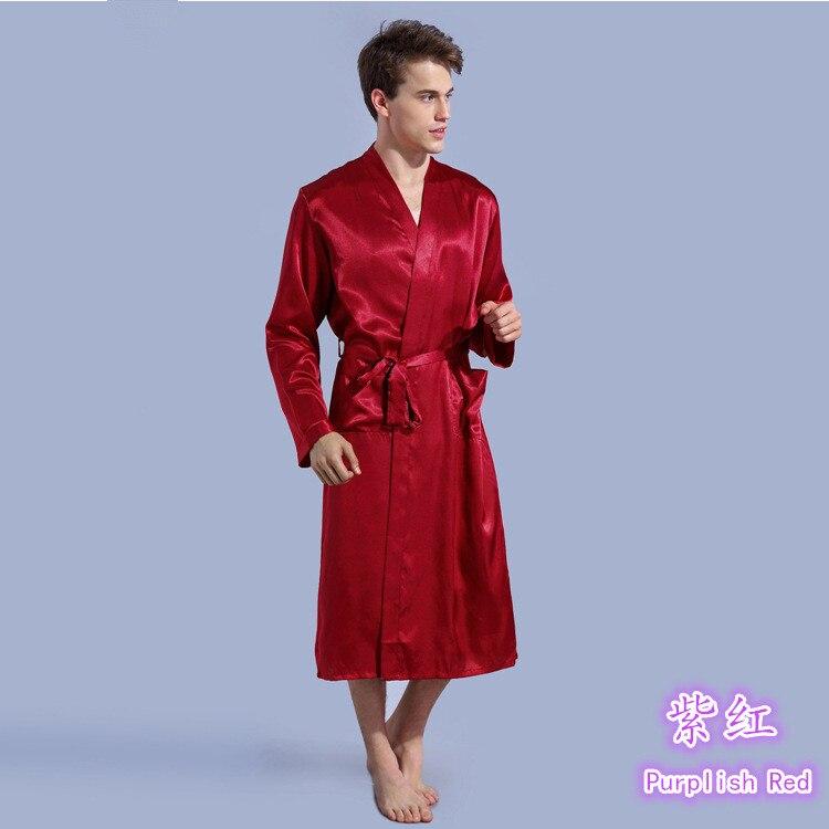 New Arrival Plus Size men Casual Breathable Faux silk Robes lounge Homewear Sleepwear Set Mens Bathrobe sets CSCP