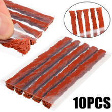 10pcs/set Rubber Strip Car Motorcycle Tire Tyre Puncture Repair Rubber Strip Tubeless Tire Repair Tools Strips 10pcs tire repair kit diagnostic motorcycle tools tubeless tire repair kit car van vehicle wheel tire puncture mending tools