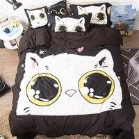 Cute Cartoon Dog Rabbit Unicorn Cat Printed Bedding Set Children Twin Queen King Size Duvet Cover Sets Pillowcase Bed Sheets