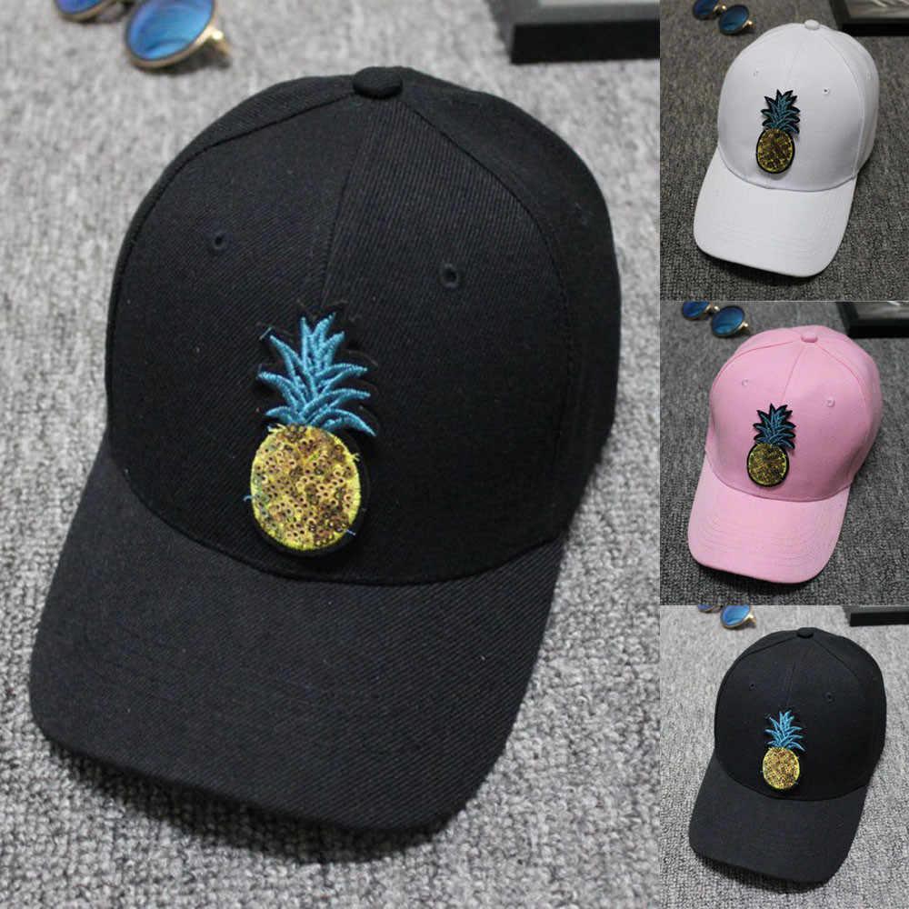 2018 في الهواء الطلق الرجال النساء البيسبول قبعات التنس الأناناس التطريز قبعة قابلة للتعديل القبعات مريحة لارتداء 0824