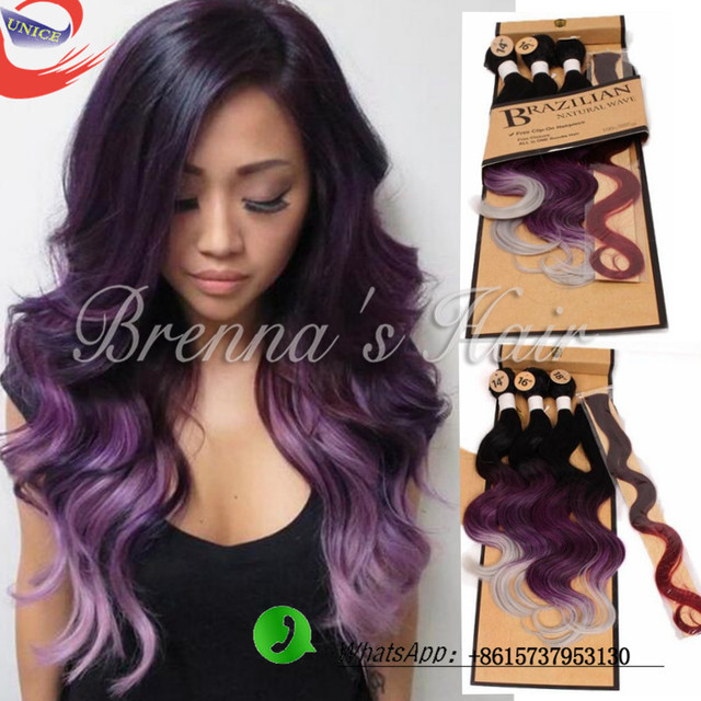 New omber hair weave body wave 1b purple ombre synthetic hair new omber hair weave body wave 1b purple ombre synthetic hair extensions two tone crochet pmusecretfo Choice Image