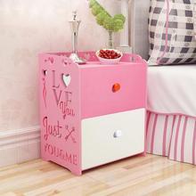 Простой прикроватный столик простой экономической сборки детская запирающийся шкафчик спальня общежитие прикроватная маленький шкаф