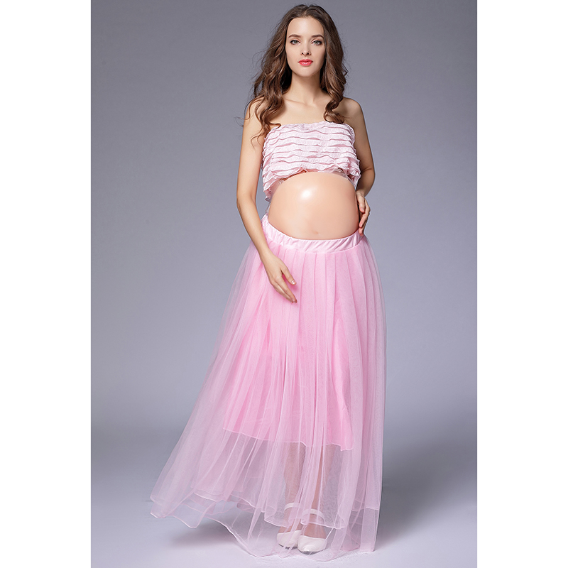 Women Pregnant Photography Props Clothing Set Ball Gown Skirts Tops 2 Pieces Maternity Skirt For Photo Shooting Pink Wedding Skirts Aliexpress