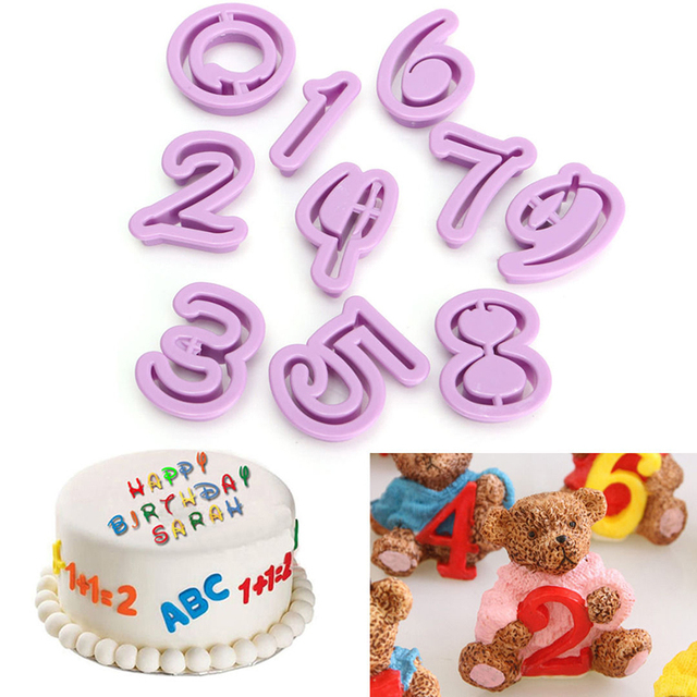 36pcsset Number Letters Happy Birthday Plastic Fondant Cake