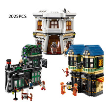 2025pcs Hot movie Harry Potter and the Philosopher's Stone diagon Alley building block bricks lepins compatible legod 10217 toys(China (Mainland))