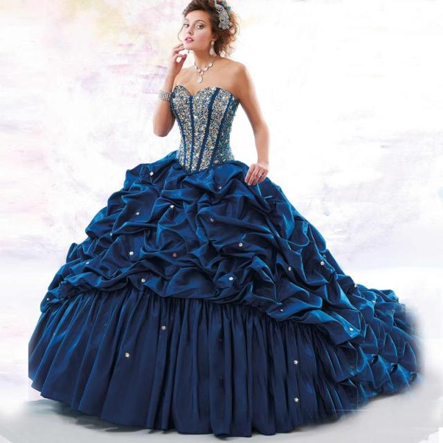 Navy Blue Quinceanera Dresses Red Masquerade Ball Gowns 2017 With ...