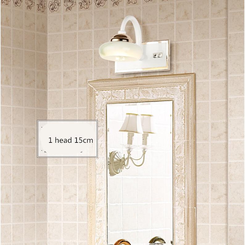 ФОТО high quality modern brief marble hand crafted led 1 head 3W wall lamp waterproof IP65 durable mirror light AC85-265V 1979