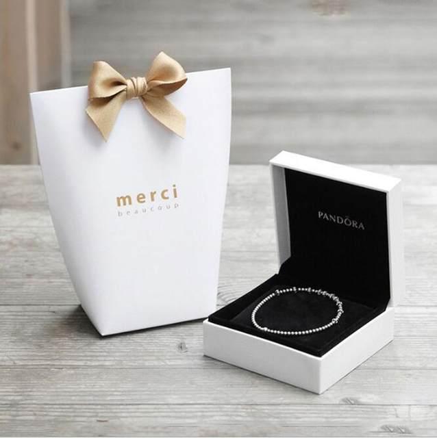 Online Shop 50pcslot L size MERCI BEAUCOUP white black gift paper