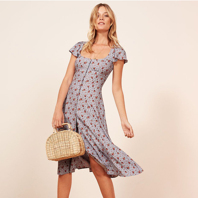 Harbor Retro Midi Dress