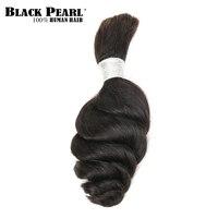 Black Pearl Pre-Colored Loose Wave Human Hair Bundles Brazilian Hair Bulk 1 Bundle Braiding Hair Extension Braids Hair Deal