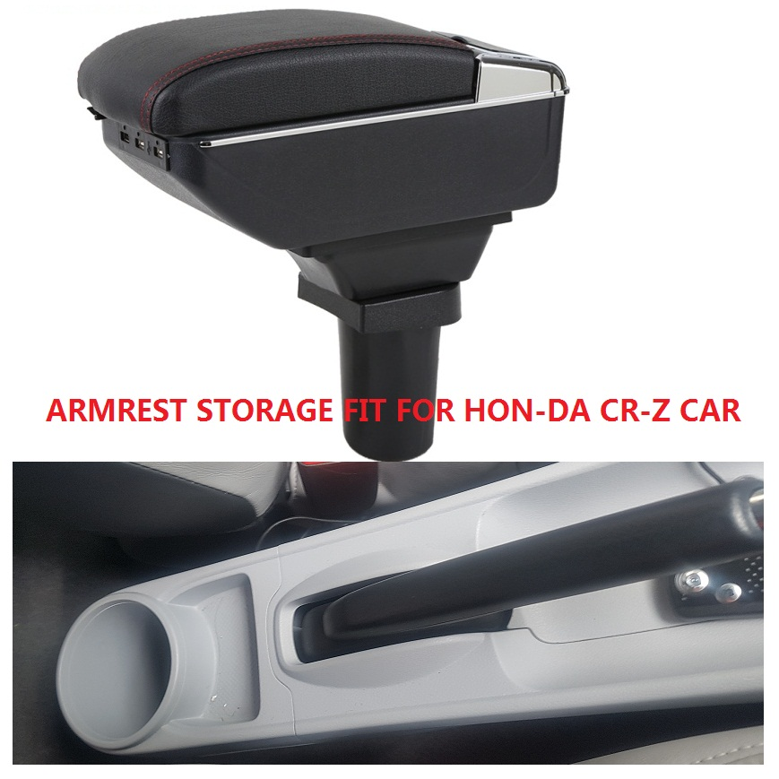 CITYCARAUTO BIGGEST SPACE LUXURY USB Car armrest box central Storage content box USB LED FIT FOR