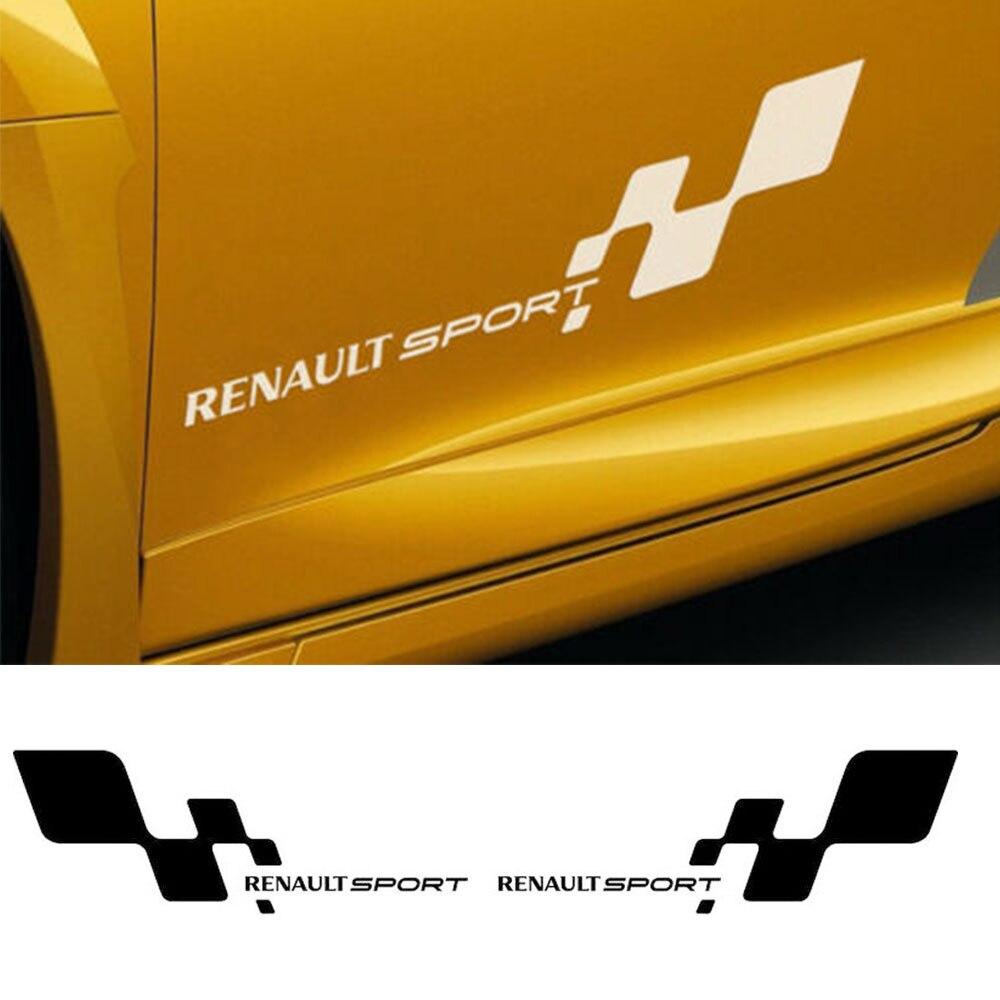2 x RENAULT Aufkleber für rückspiegel Sticker Tattoo Auto Laguna Megane Clio Neu