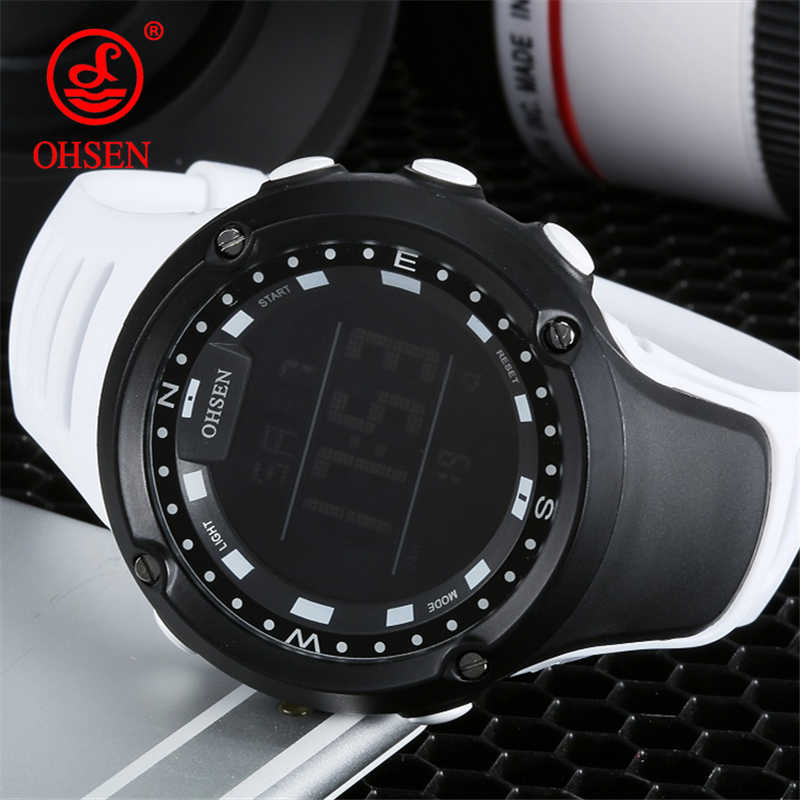 OHSEN Men Women Fashion Casual Digital Sports Watches 50M Waterproof Digital Men's Stopwatch Alarm Outdoor Sport Wristwatches