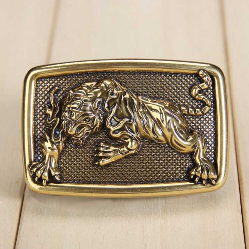 Plate Buckle Fashion Man's Belt Buckle  Bronze Belt Buckle Size:4.5*7cm,Suitable For 3.3-3.8cm Belt NEW Belt Agio 3D Animal Stud