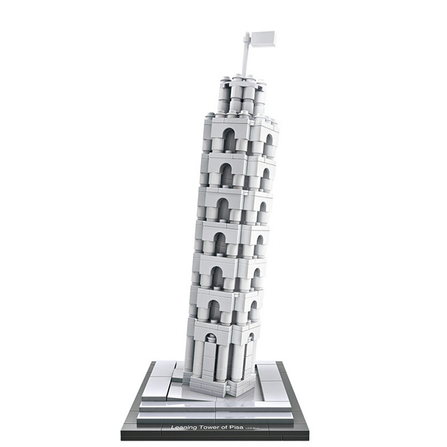 LOZ mini diamond building block world famous Architecture Leaning Tower of Pisa Italy city nanoblock model brick toys collection hot toys nanoblock world famous architecture statue of liberty building blocks mini construction brick model iblock fun for kid