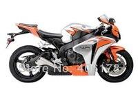 Hot Sales,For Honda cbr kit 1000 CBR1000RR Fireblade 2008 2011 Orange and Silver Buy Motorcycle Fairings (Injection molding)