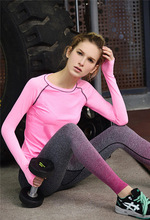 Yoga Leggings For Women Gradient Color High Waist Gym Clothing Sports Slimming Pants Workout Sport Fitness