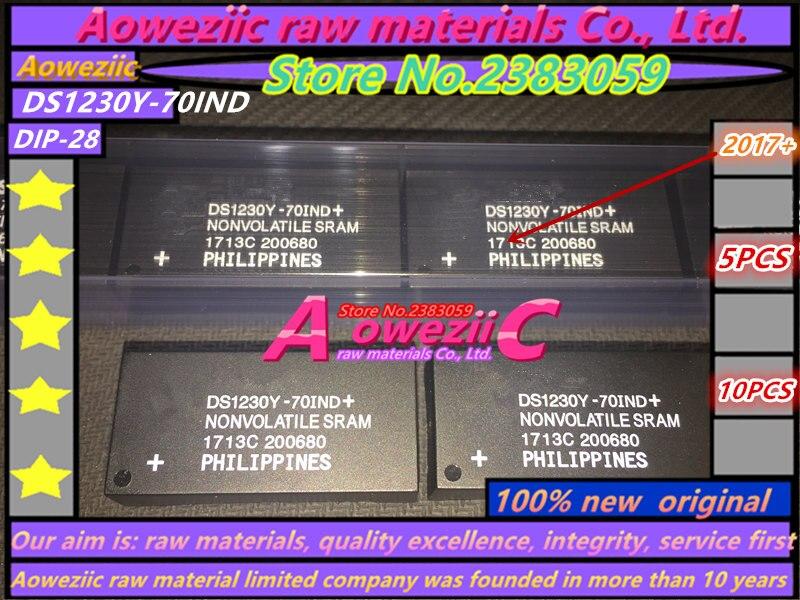 Aoweziic 100% new original DS1230Y-70IND DS1230Y DIP-28 Horloge puce mémoire 256 K