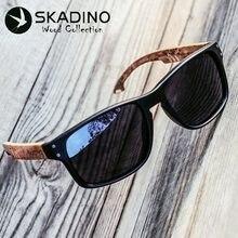 0f5685f540 Los hombres de madera gafas de sol polarizadas UV400 SKADINO de madera de  haya, gafas de sol para mujer azul lente verde hecha a.