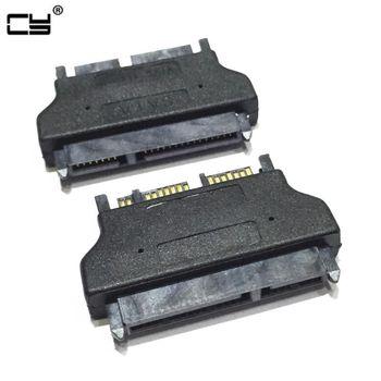 Micro SATA 16Pin 7+9pin Male to SATA Female 7+15 22Pin Connector Converter Adapter Black M-F SATA Adapter