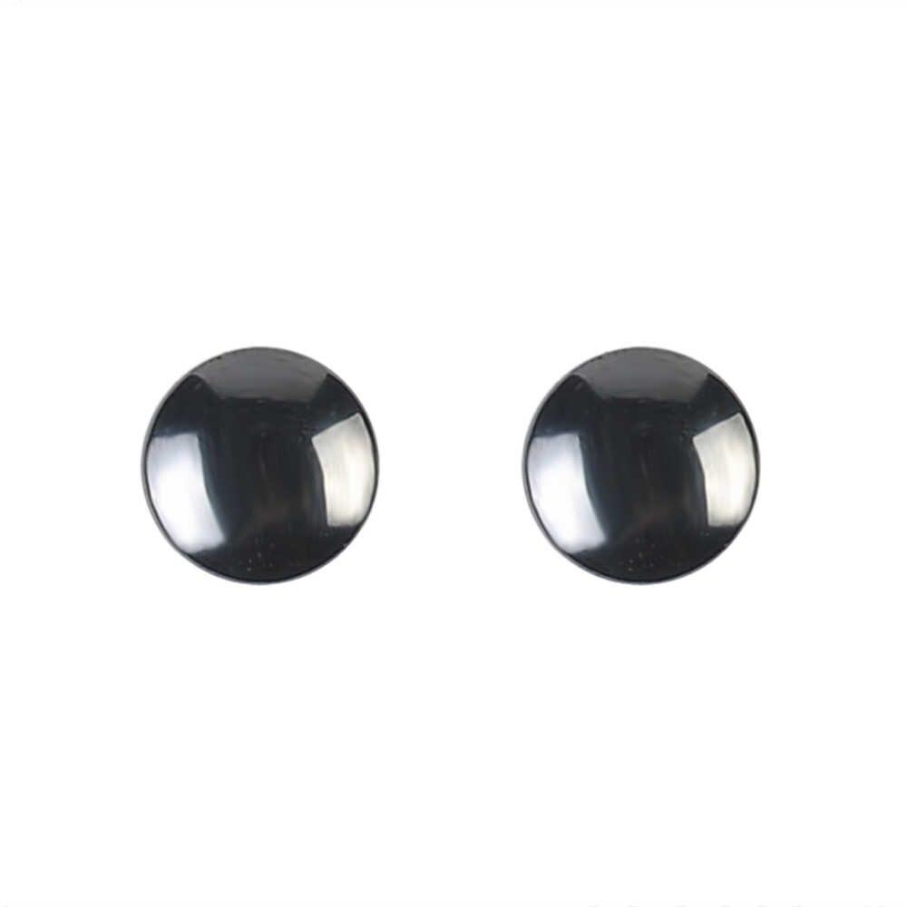1 ペア黒曜石鍼イヤリングパンクファッション人気のシンプルなイヤリング女性芳一磁気イヤリングジュエリー