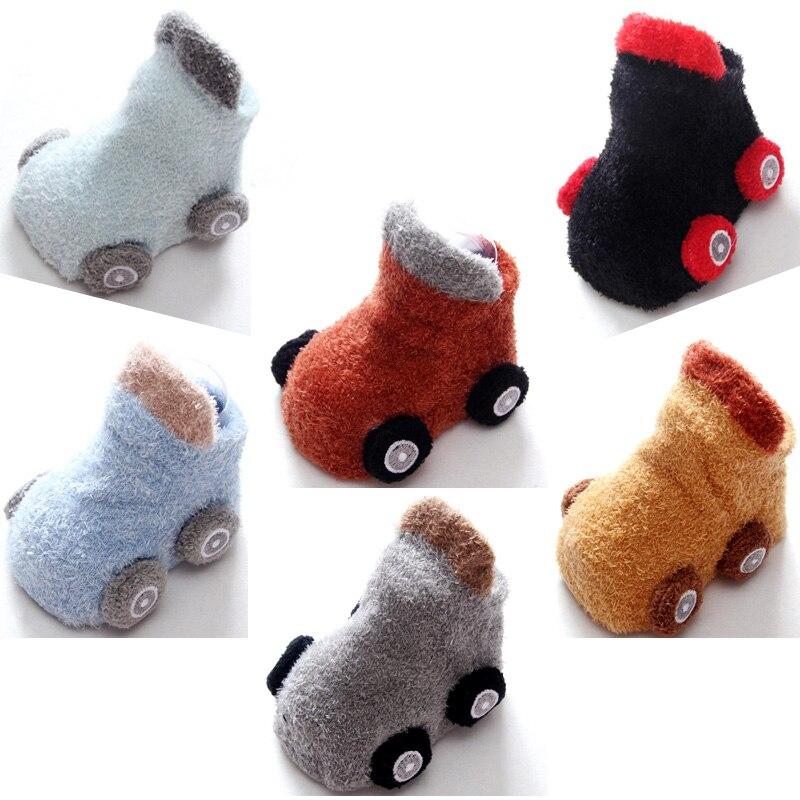 Lovely Six Color Cartoon Car Baby Toddler Sock Autumn Winter Warm Non-slip Baby Sock