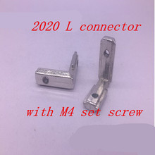 10PC T slot L type 90 degree EU standard 2020 aluminum profile Inside corner connector bracket with M5 screw(China)