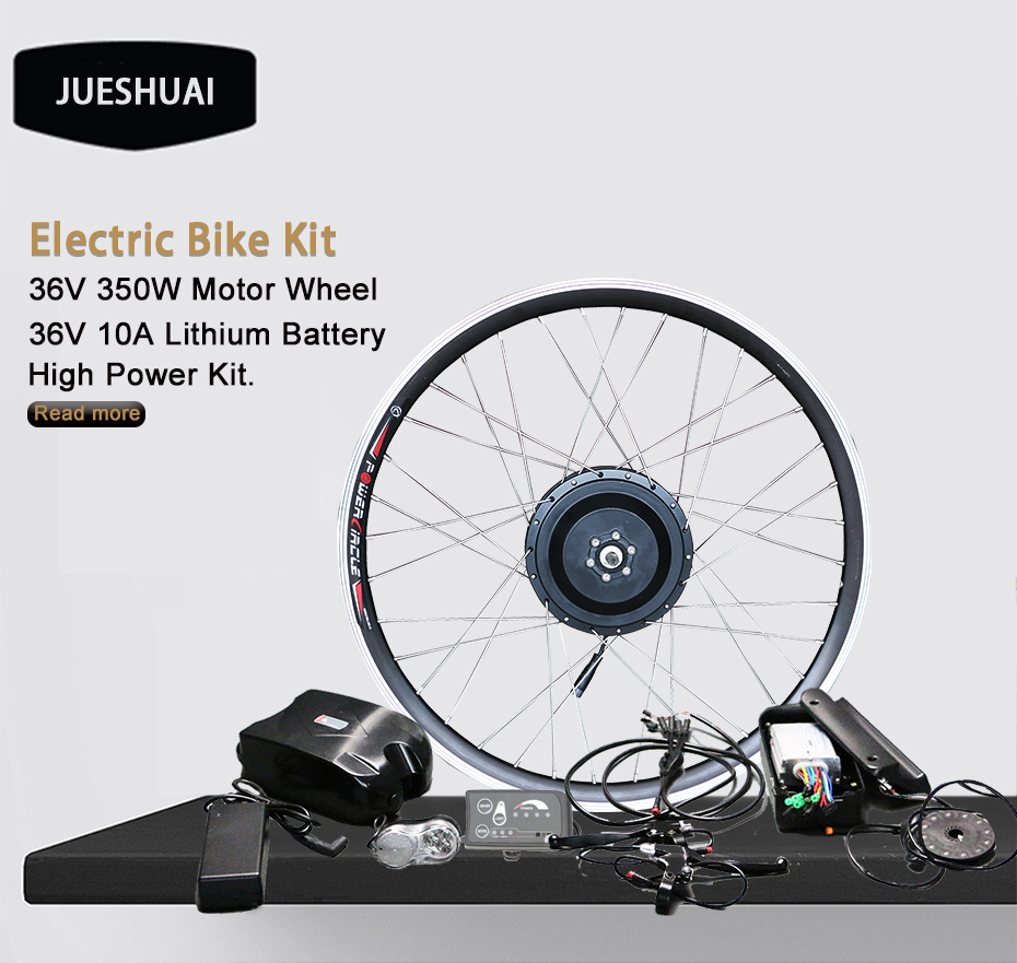 Perfect New DIY Kit 36V10Ah Battery 350W Electric Bicycle Motor Ebike Conversion Kits LED Display Motor Bikes Combination Apart Package 0
