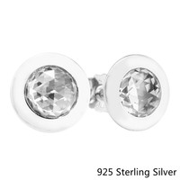 CKK Authentic 925 Sterling Silver Radiant Stud Earrings European Style Jewelry For Women Fashion Charms