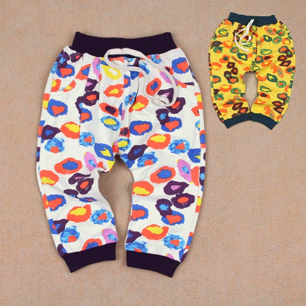 Male female children's child pants cotton 100% cotton sports casual pants loop pile cotton trousers baby big pp trousers
