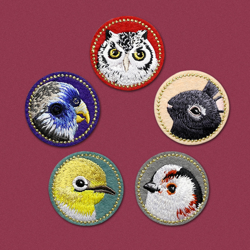 Owl Iron On Patch Bird Animal Embroidered Badge Applique Crafts