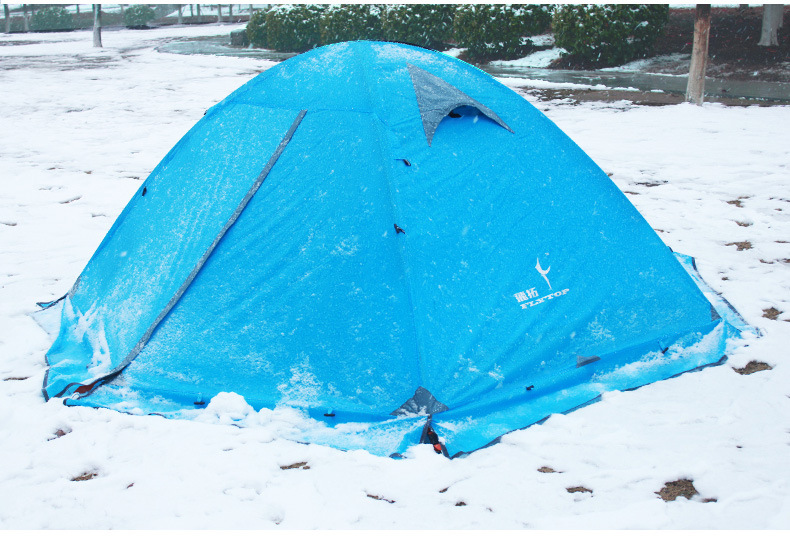FLYTOP Outdoor Camping Tent For Rest Travel 2 Persons 3 Double Layer Windproof Waterproof Winter Professional Camp Tourist Tent (18)