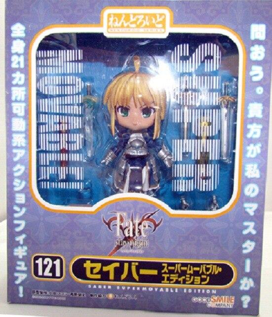 Hot NEW 10cm Q version Fate/stay night movable Fate Altria Pendragon Nendoroid Mini Action Figure toys doll