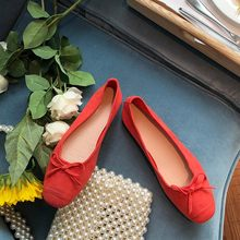 Women Flats Ballet Shoes Spring Slip On Flat Loafers Round Toe Shallow Casual Soft Ballerina Butterfly knot Flat Shoes czrbt sheep suede leather women flats spring crystal pearl dragonfly loafers women concise round toe shallow mouth flat shoes