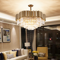 Modern crystal chandelier lighting luxury chandeliers for living room hanging gold round indoor lights bedroom child chandelier