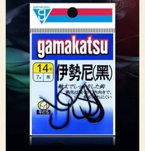 High quality Japan Gamakatsu black barbed hooks high carbon steel hooks super wearable sharp anti-corrosion carp fishing hooks