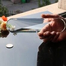 Гигантская 200 мм 8 дюймов овальная стеклянная лампа с кристаллами, декоративная люстра Haning орнамент DIY
