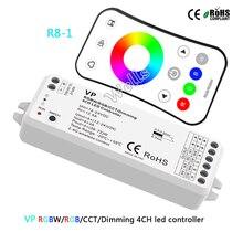 VP 2.4G wireless RGBW/RGB/CCT/Dimming 4CH DC12-24V 12A 4 in 1 Smart led strip light controller R8-1 RGB/RGBW remote