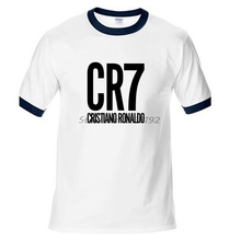 Здесь можно купить  Ronaldo Man T-Shirt Raglan Sleeve High Quality Tops Tees Famous CR7 Hip Hop T Shirt Men Man Diy cotton New Clothes