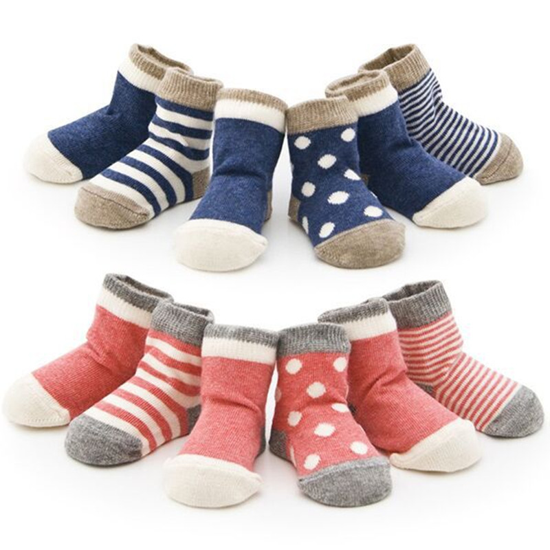 LAWADKA 4Pairs Baby Socks Girl Toddler's Baby Infants