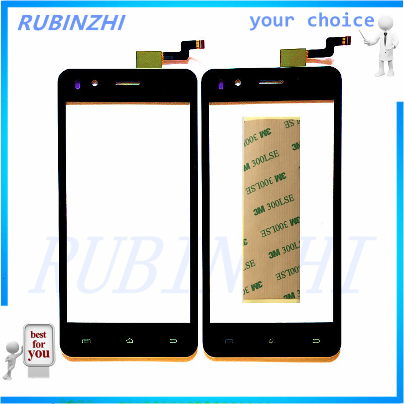 RUBINZHI Phone Touchscreen For Micromax Bolt Selfie Q424 Touch Screen Panel Sensor Glass Lens Accessor Touchpad +Tracking & Tape