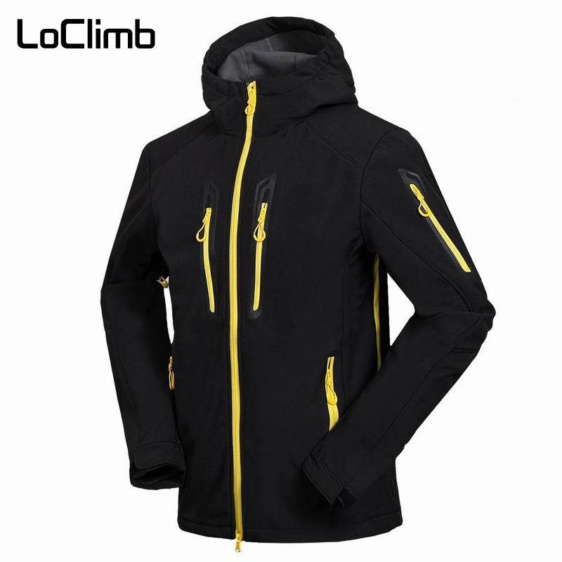 LoClimb Men s Softshell Camping Hiking Jackets Men Spring Outdoor Waterproof Coats Trekking Climbing Fishing Ski