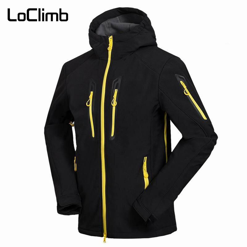LoClimb Men's Softshell Camping Hiking Jackets Men Spring Outdoor Waterproof Coats Trekking Climbing Fishing Ski Jacket,AM105 стоимость