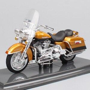 Image 2 - 1/18 skala dzieci maisto mini FLHR Road King odlewany metal model krążownik motocyklowy pojazdy turystyczne zabawki rowerowe dla dzieci