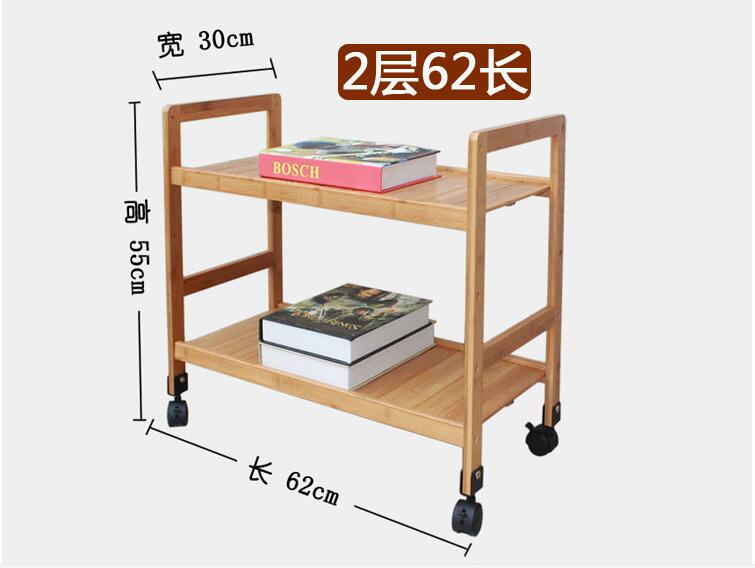 Us 13066 6 Offtwo Layer Bamboo Wood Storage Shelf Multipurpose Movable Shoes Rack Adjustable Kitchen Storage Holder With Wheels In Racks Holders