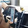 Cobao teléfono universal car air vent mount sostenedor del soporte ajustable para la pequeña tablet pc soporte iphone 5 5s 6 6 s galaxy s5 s6 s7